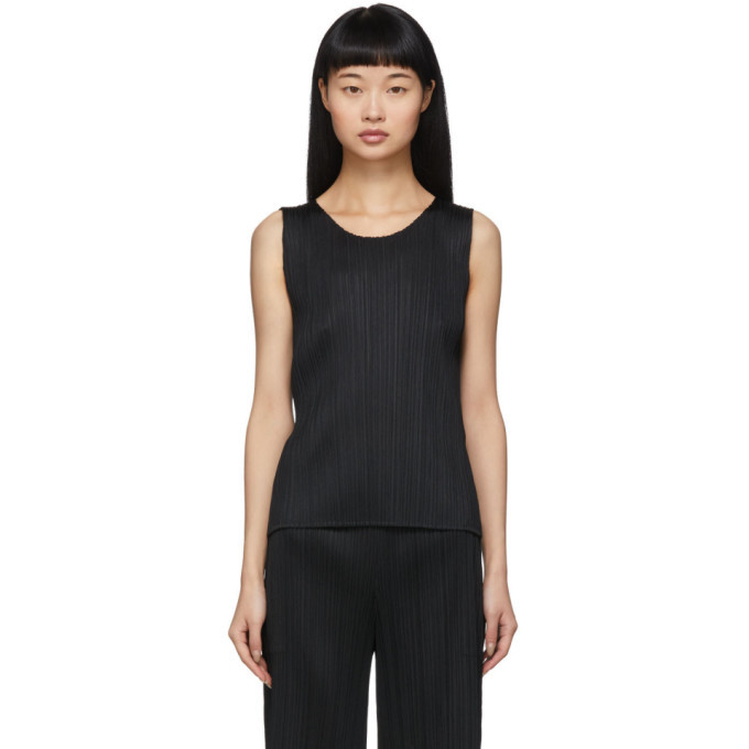 Photo: Pleats Please Issey Miyake Black Basics Pleats Tank Top