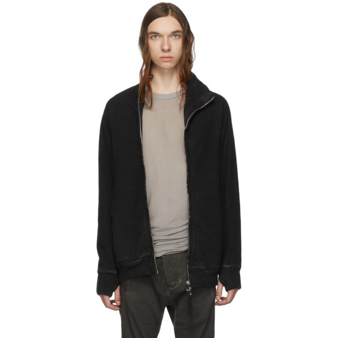 Photo: Boris Bidjan Saberi Black Double Dyed Zip-Up Jacket