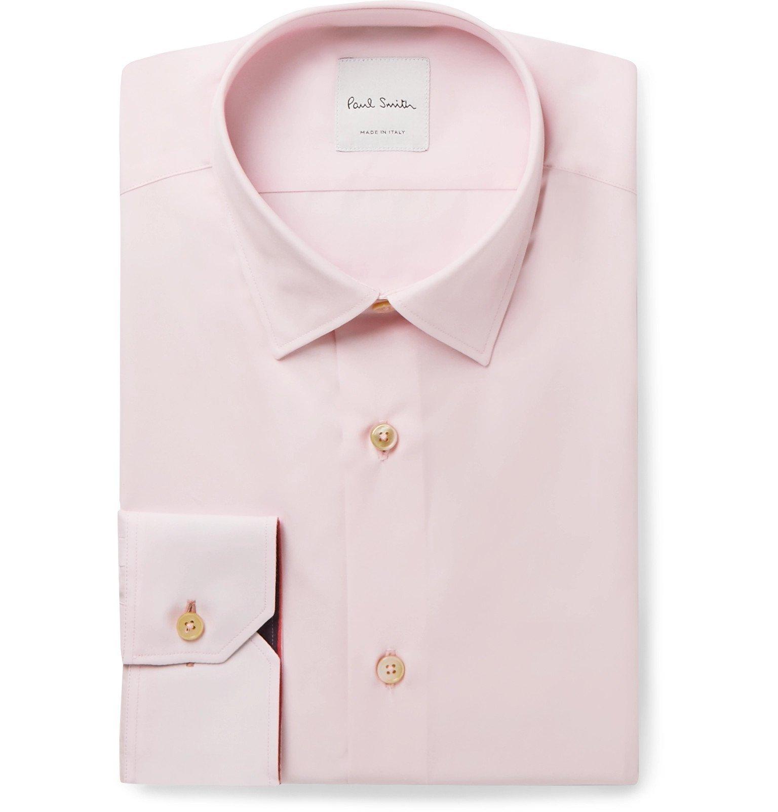 Photo: Paul Smith - Light-Pink Soho Slim-Fit Cotton-Poplin Shirt - Pink