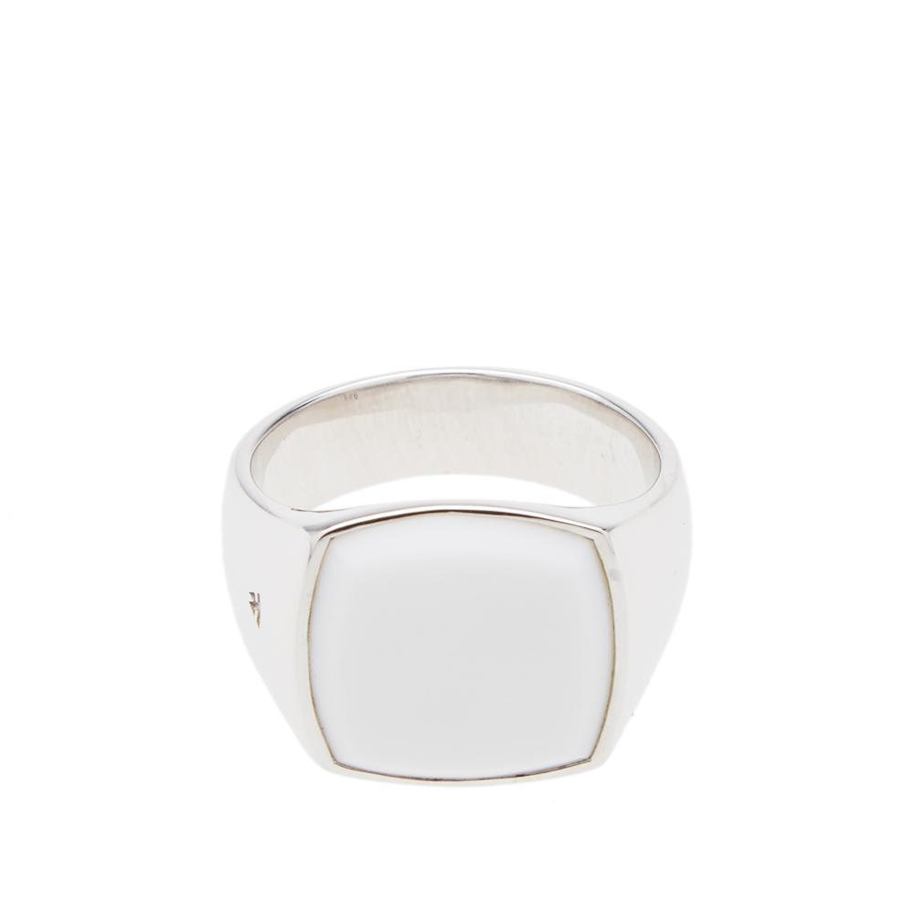 Photo: Tom Wood Cushion White Agate Ring