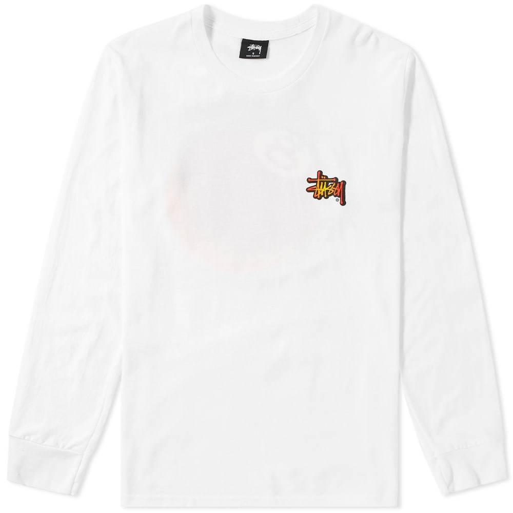 Photo: Stussy Long Sleeve Fireball Tee White