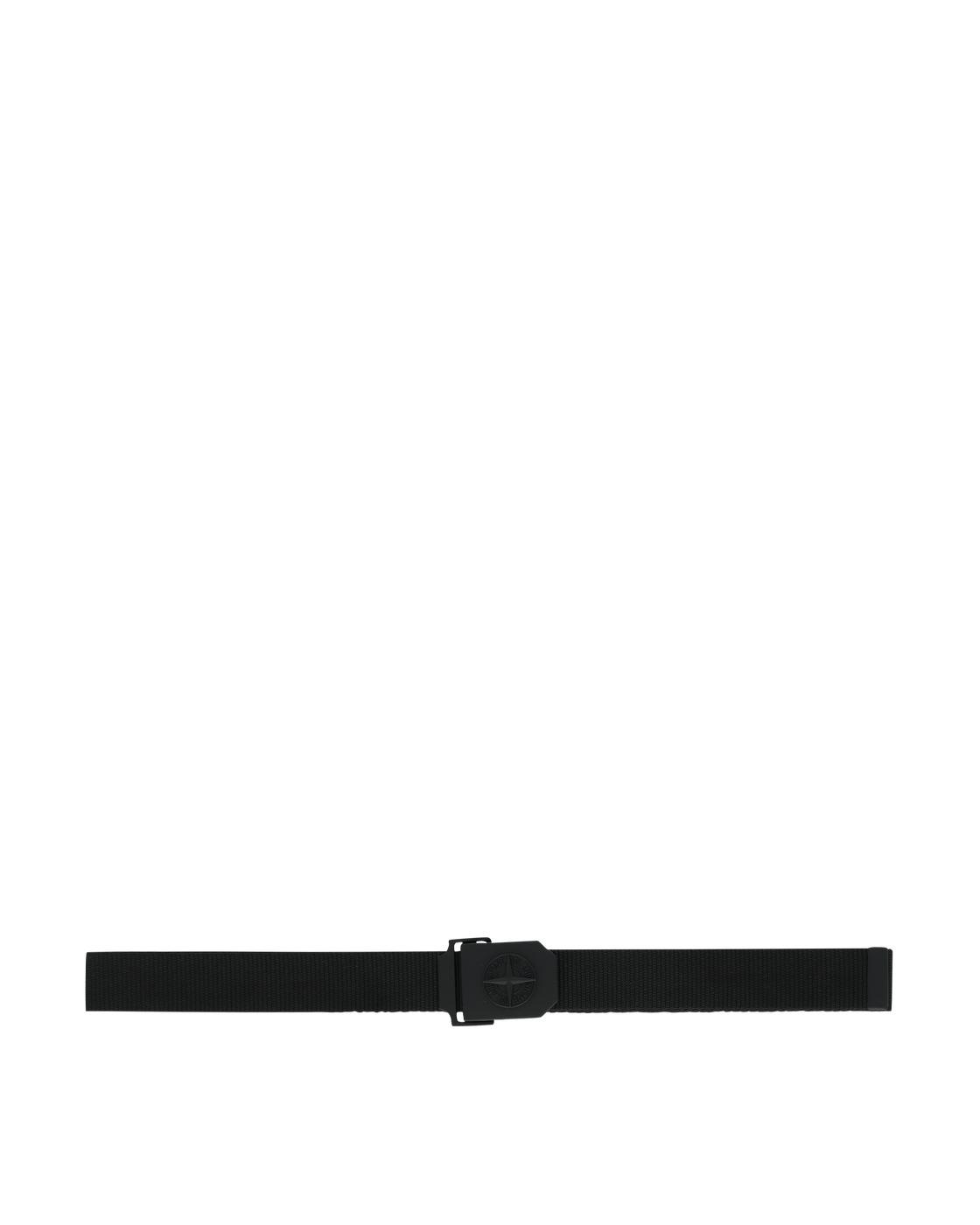 Stone Island Logo Belt Black