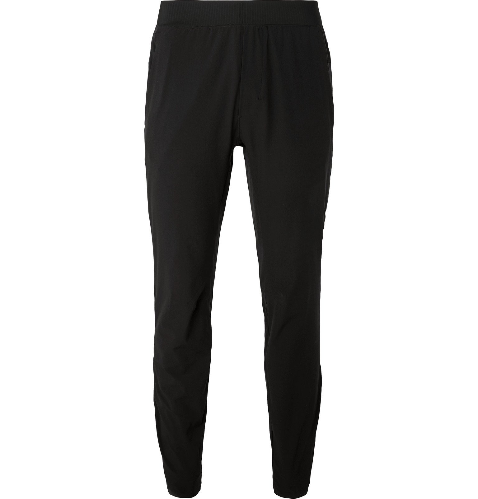Photo: Lululemon - In Mind Slim-Fit Tapered Mesh-Panelled Stretch-Jersey Yoga Sweatpants - Black