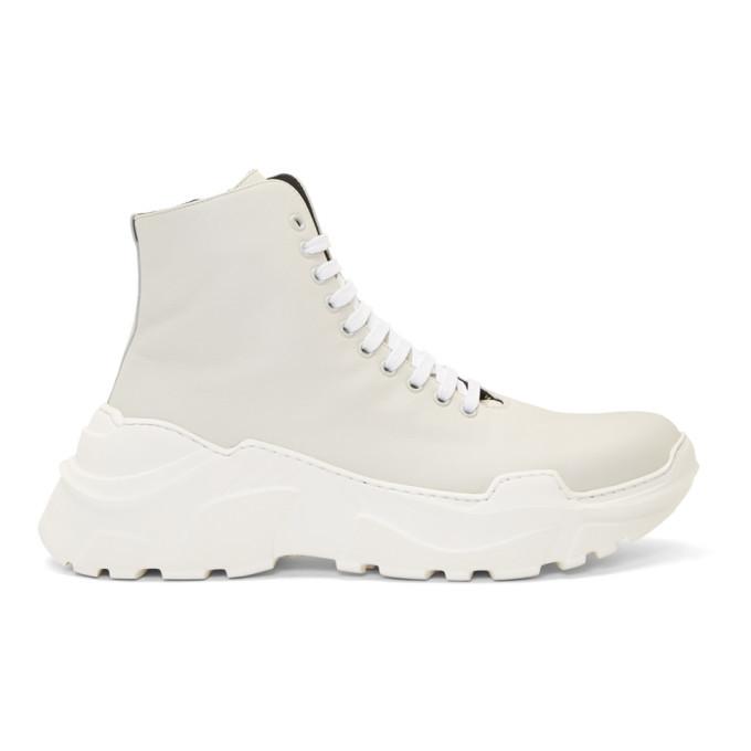 Photo: Tibi SSENSE Exclusive Off-White Milo Sneakers
