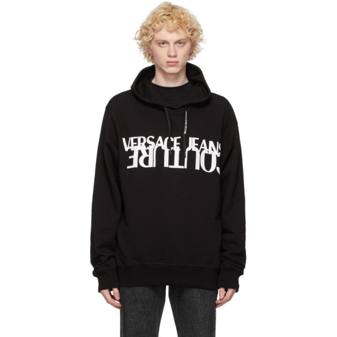 Photo: Versace Jeans Couture Black and White Logo Hoodie