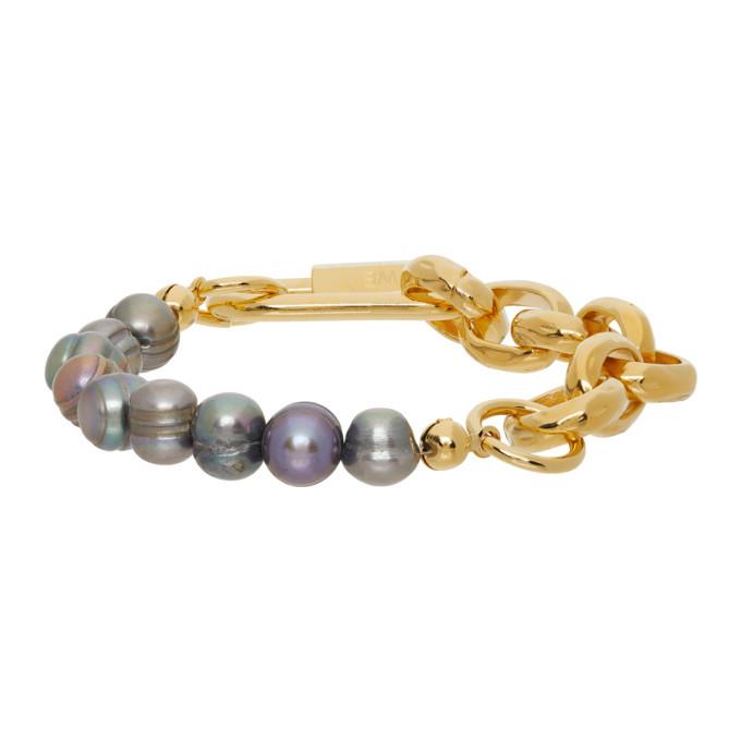 Photo: IN GOLD WE TRUST PARIS SSENSE Exclusive Gold Chain Bracelet