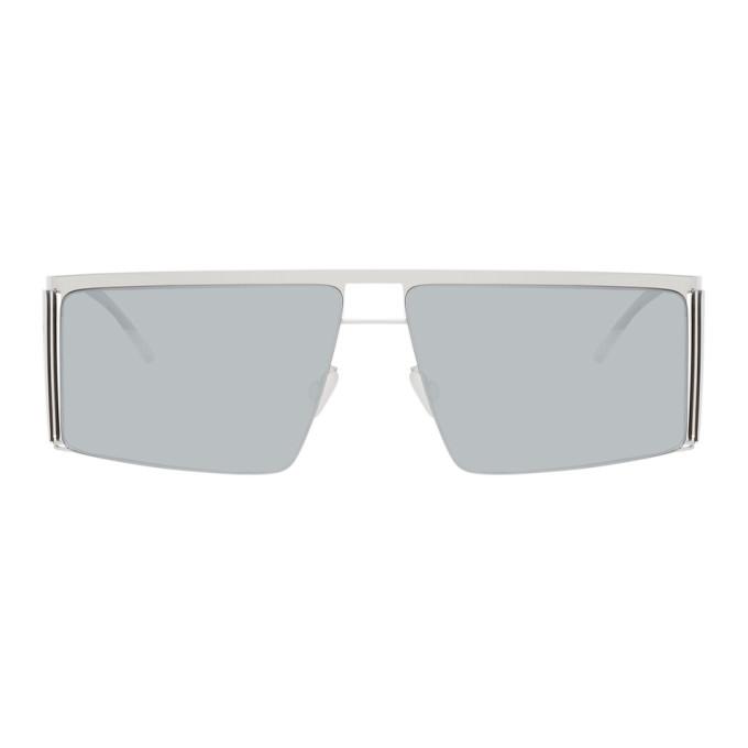 Photo: Helmut Lang Silver Mykita Edition HL001 Sunglasses