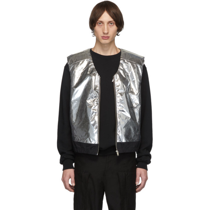 Photo: Ambush Silver and Black Padded Vest