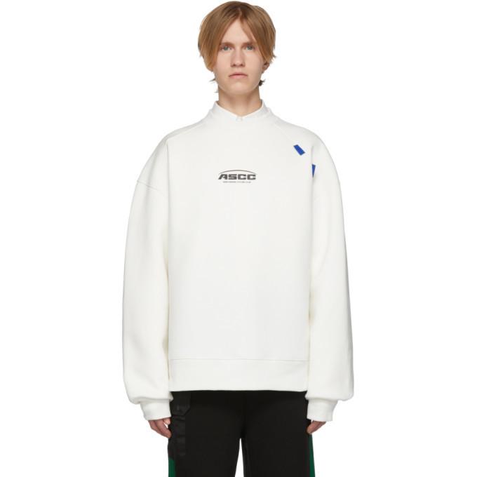 Photo: ADER error SSENSE Exclusive Off-White ASCC Unbalanced Yoke Sweatshirt