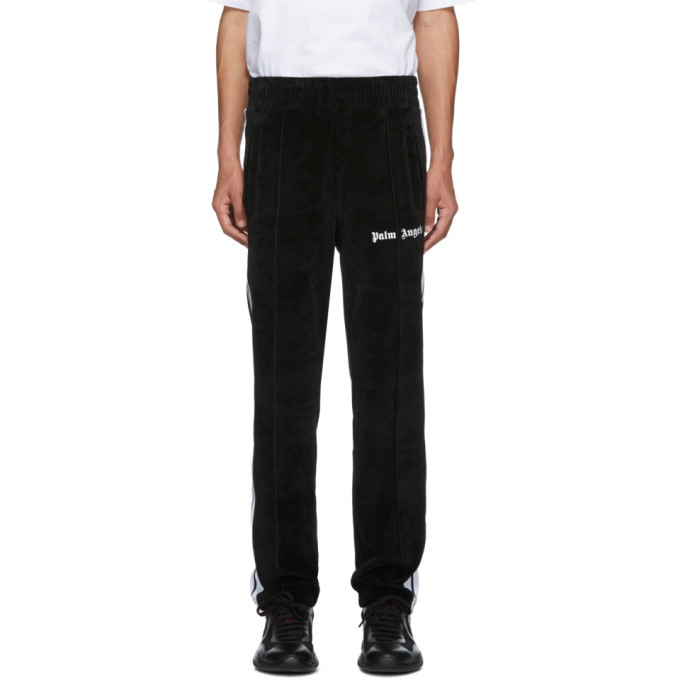Photo: Palm Angels Black Chenille Track Pants