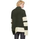 Sacai Khaki Wool Knit Pullover