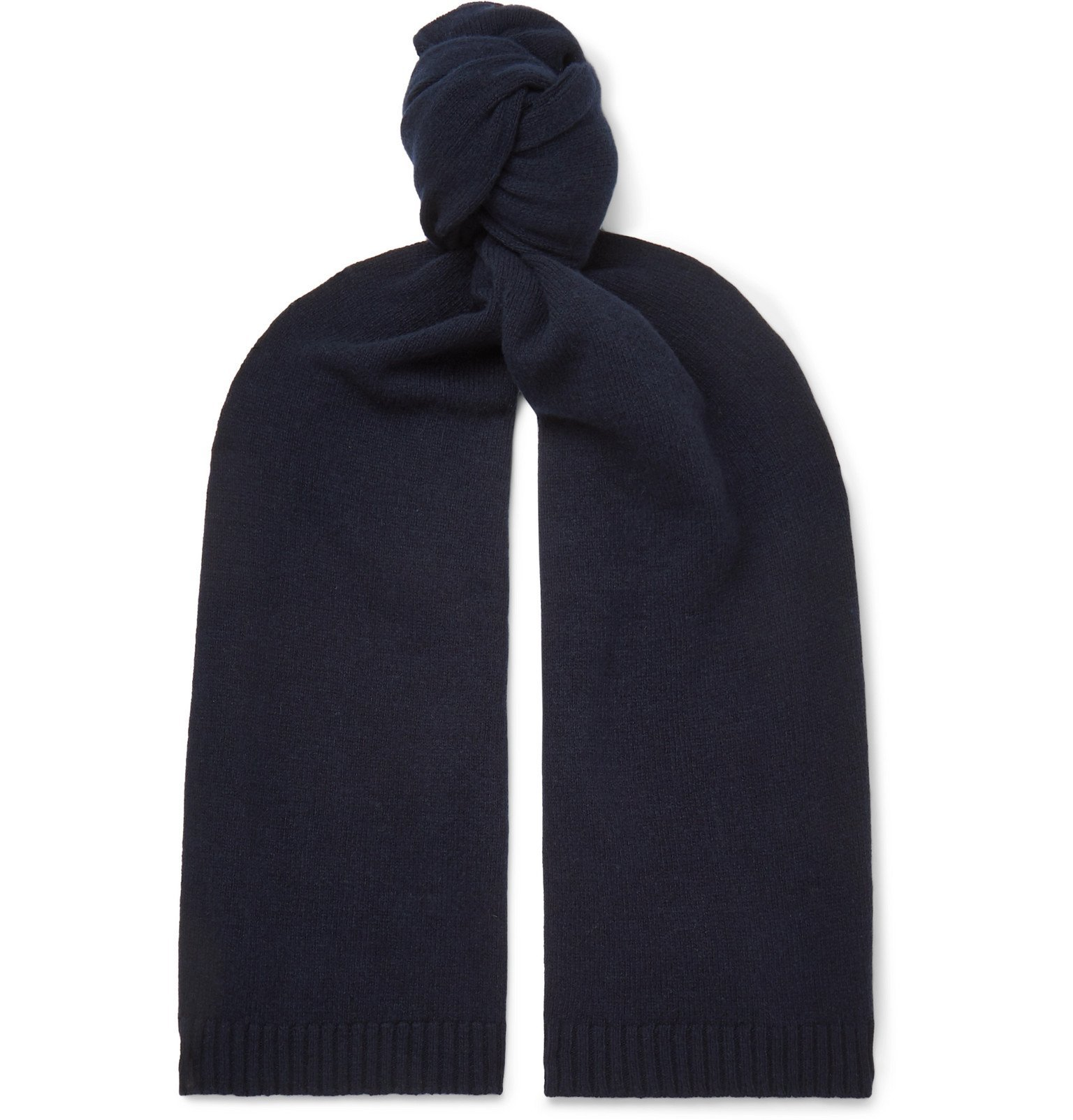 Officine Generale - Cashmere and Wool-Blend Scarf - Blue