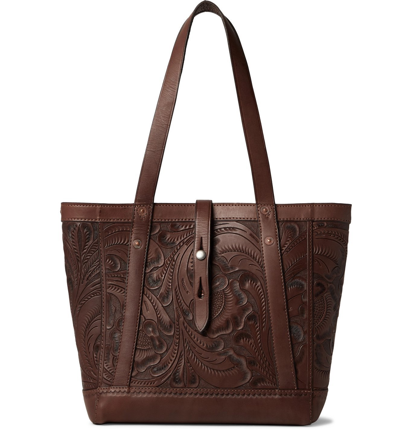 Photo: RRL - Tooled Leather Tote Bag - Brown