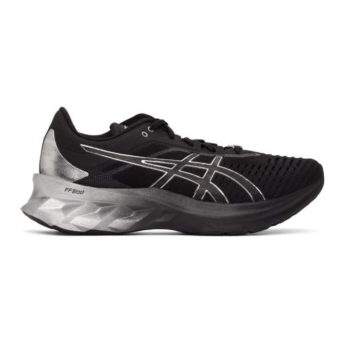 Photo: Asics Black and Silver Novablast Platinum Sneakers