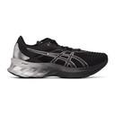 Asics Black and Silver Novablast Platinum Sneakers
