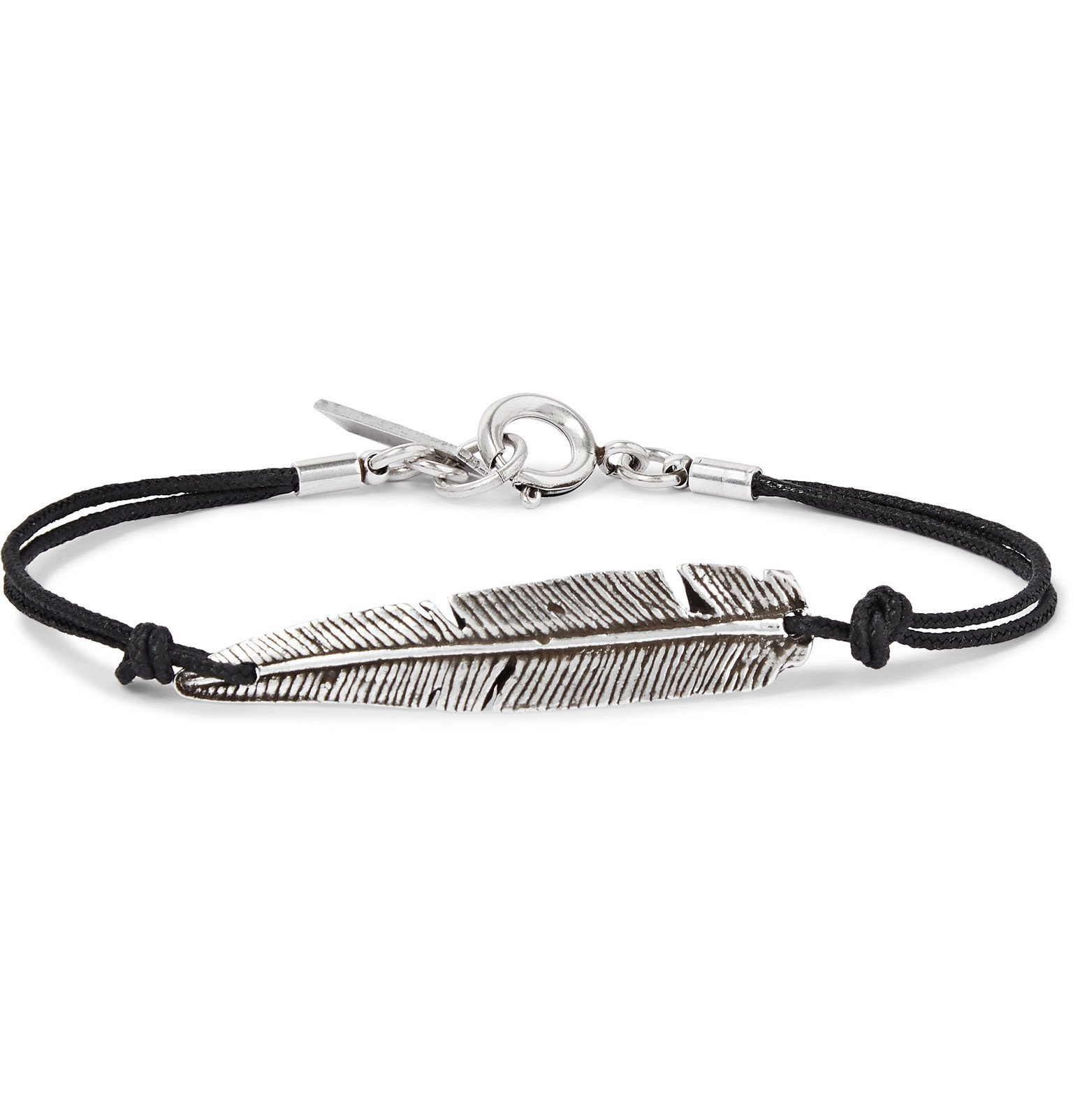 Photo: Isabel Marant - Feather Cord and Silver-Tone Bracelet - Silver