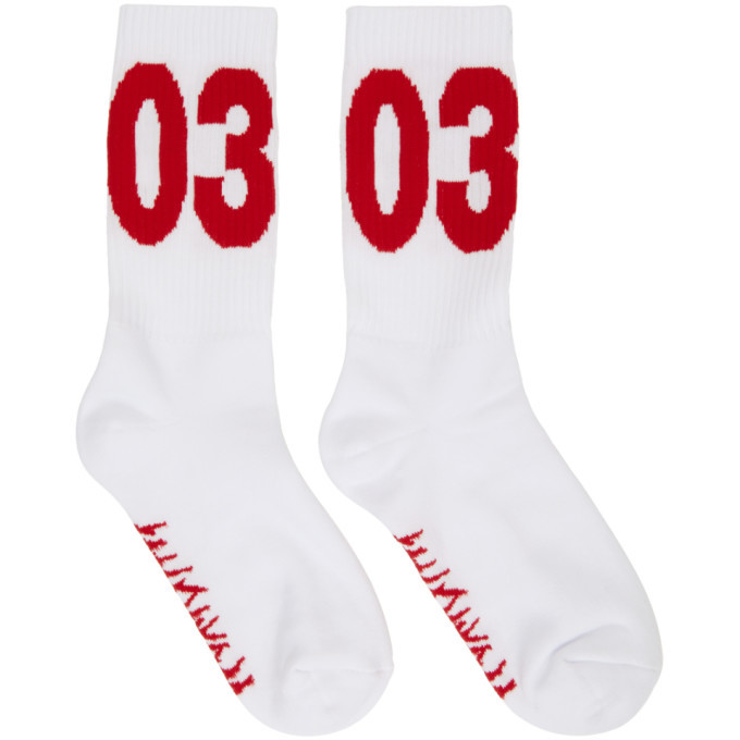 Photo: 032c White and Red Workshop Socks