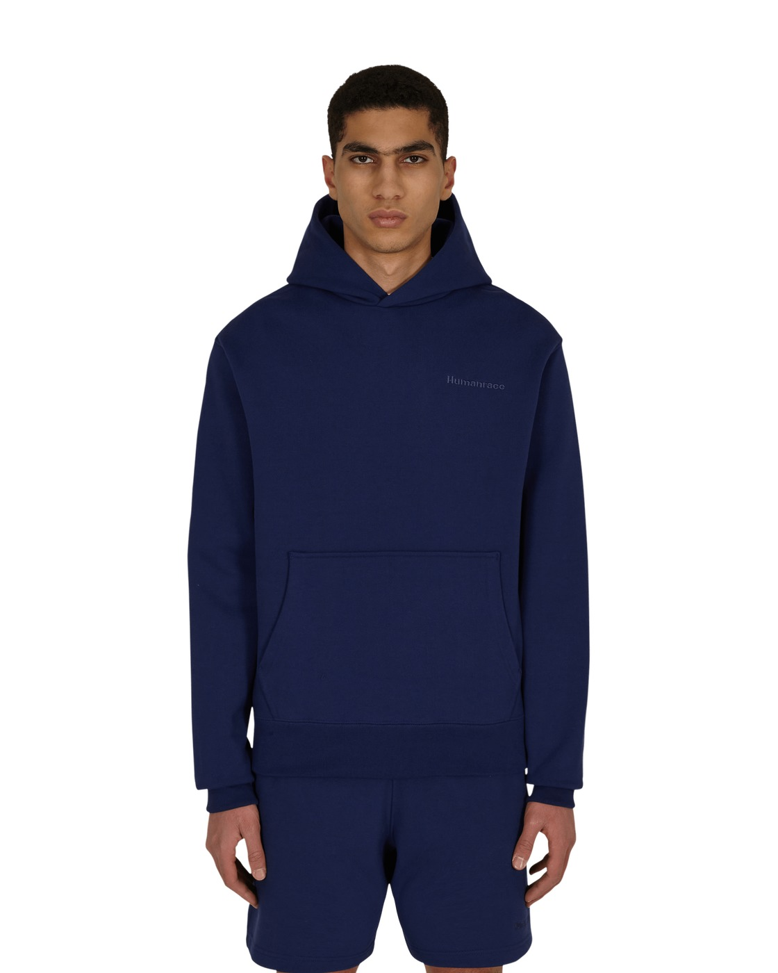 Photo: Adidas Originals Pharrell Williams Basics Hooded Sweatshirt Night Sky
