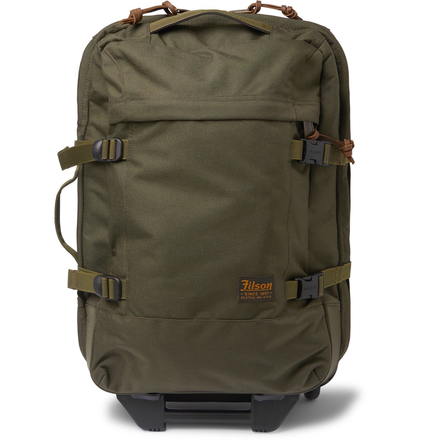 Filson - Dryden Leather-Trimmed Camouflage-Print CORDURA Carry-On Suitcase - Green