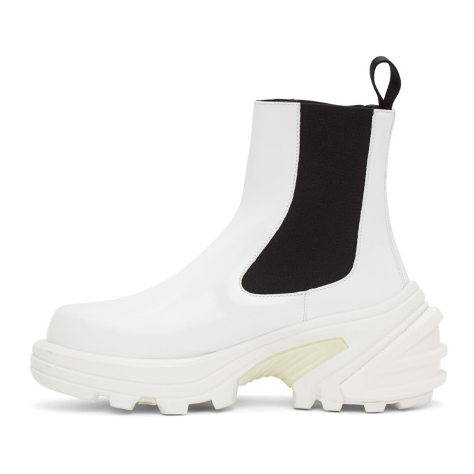 1017 ALYX 9SM White Leather Chelsea Boots