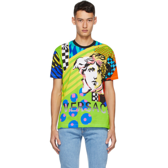 Photo: Versace Multicolor Collage Pop Temple Taylor T-Shirt