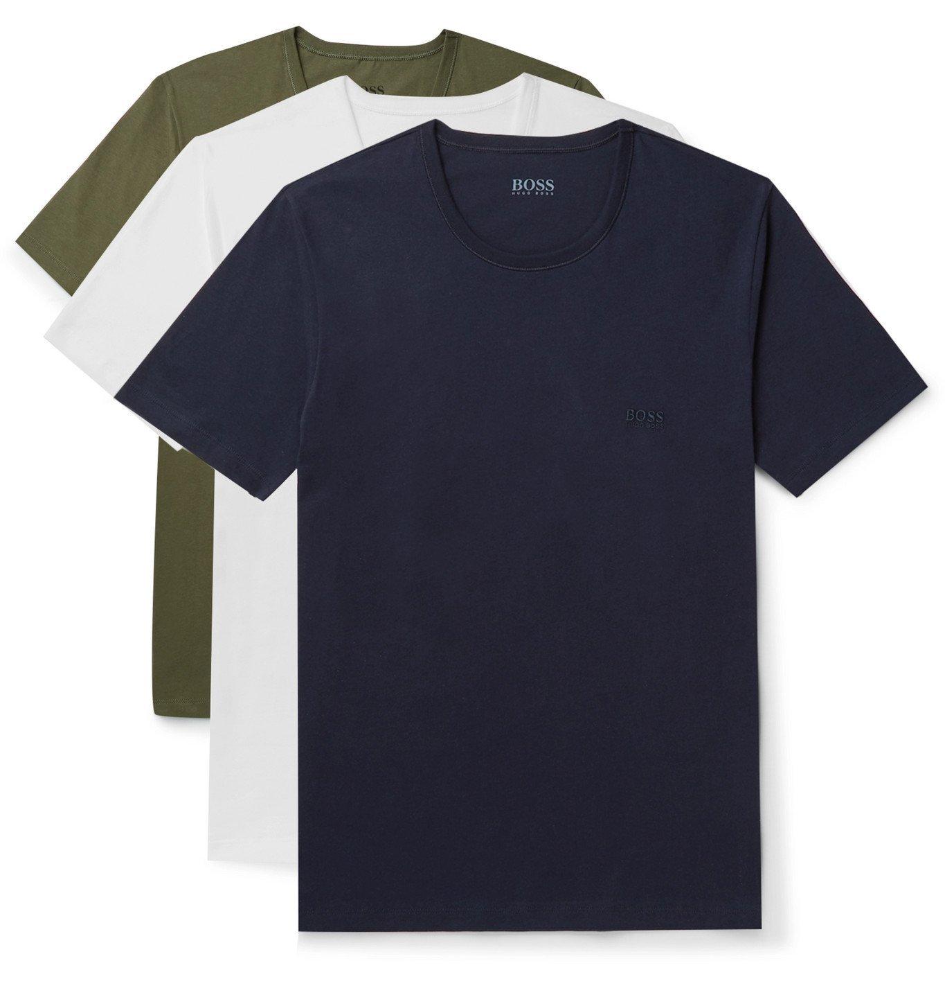 Photo: Hugo Boss - Three-Pack Cotton-Jersey T-Shirts - Multi
