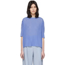 Nina Ricci Blue Pleated T-Shirt