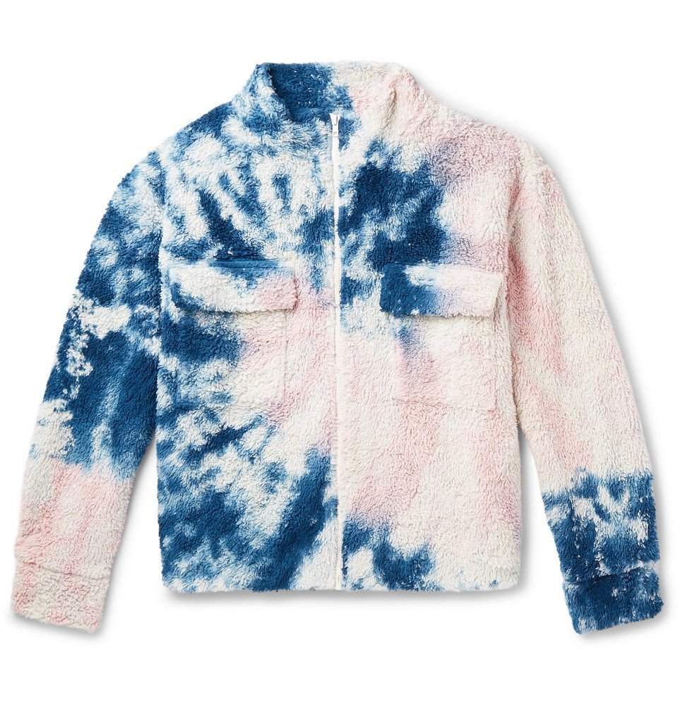 Photo: The Elder Statesman - Tie-Dyed Cotton-Blend Fleece Jacket - Pink