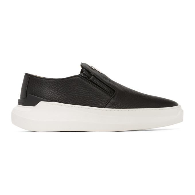 Photo: Giuseppe Zanotti Black Conley Slip-On Sneakers