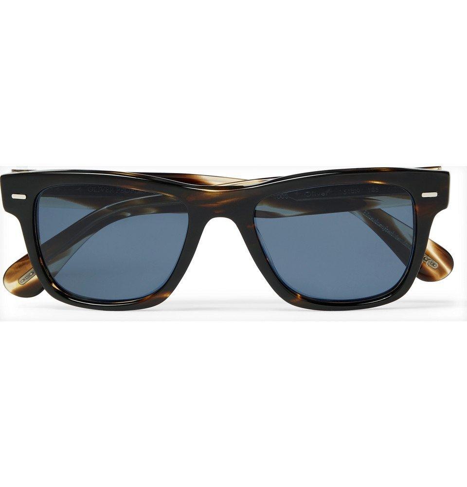 Oliver Peoples - Oliver Sun Square-Frame Tortoiseshell Acetate Sunglasses - Blue