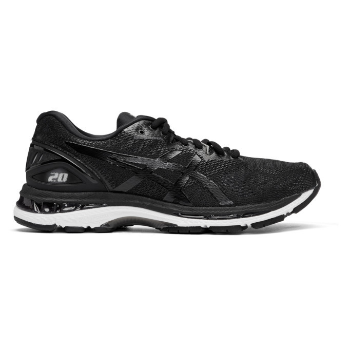 Photo: Asics Black and White Gel-Nimbus 20 Sneakers