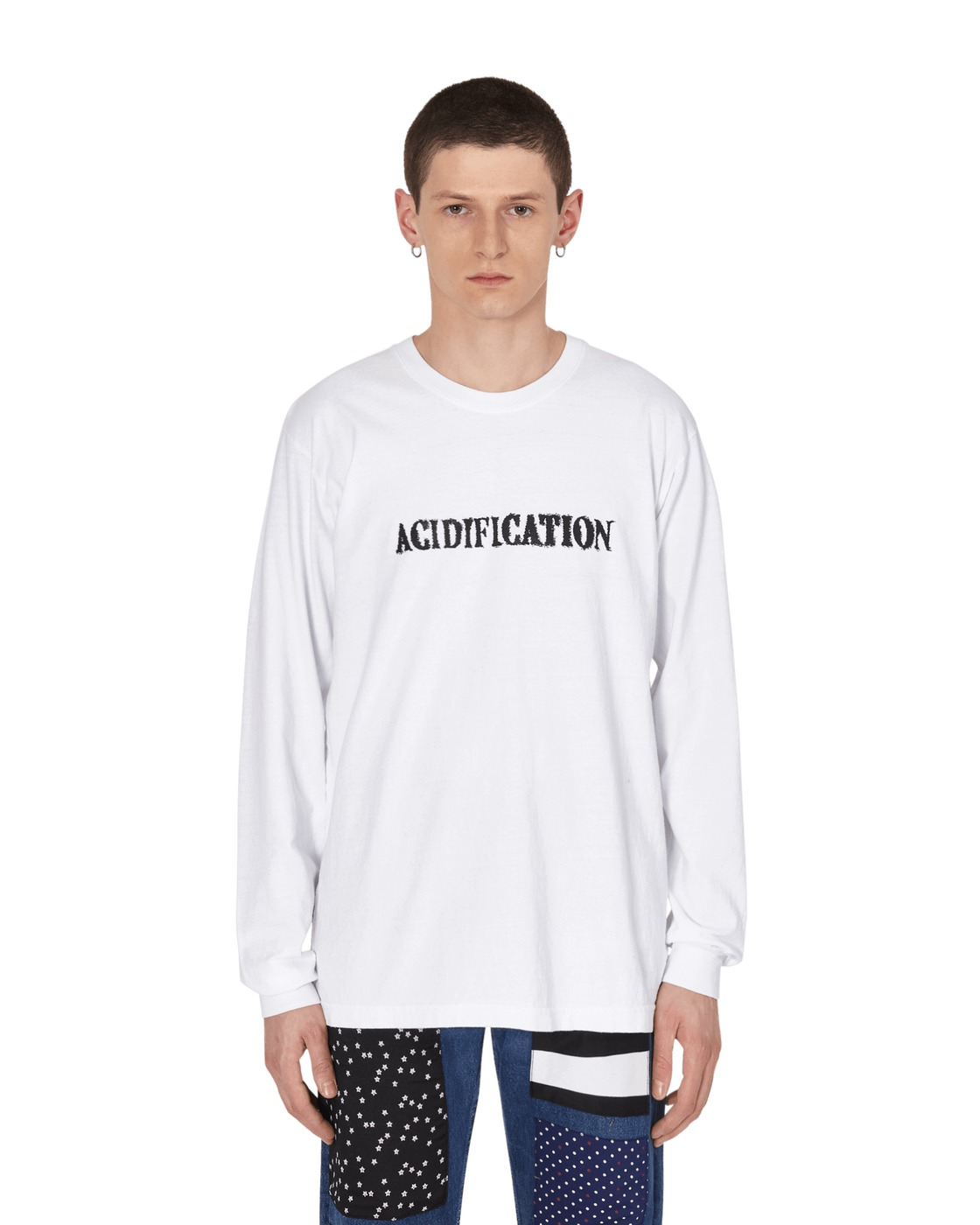 Eden Power Corp Accidification Recycled Longsleeve T Shirt White