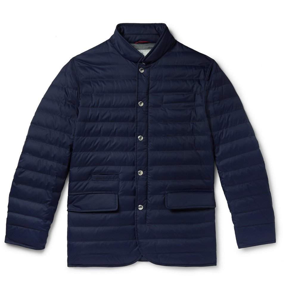 Photo: Brunello Cucinelli - Quilted Nylon Down Jacket - Navy