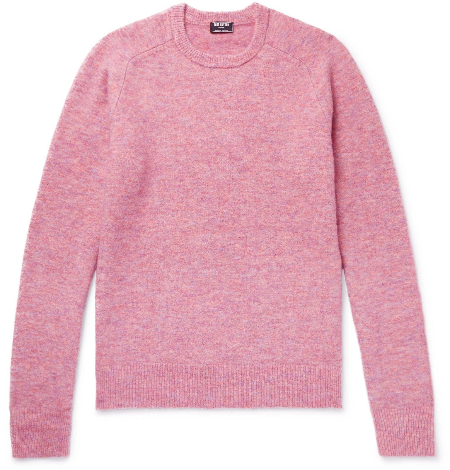 Photo: Todd Snyder - Mélange Knitted Sweater - Pink