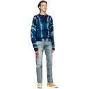 Aries Blue and Beige Merino No Problemo Sweater