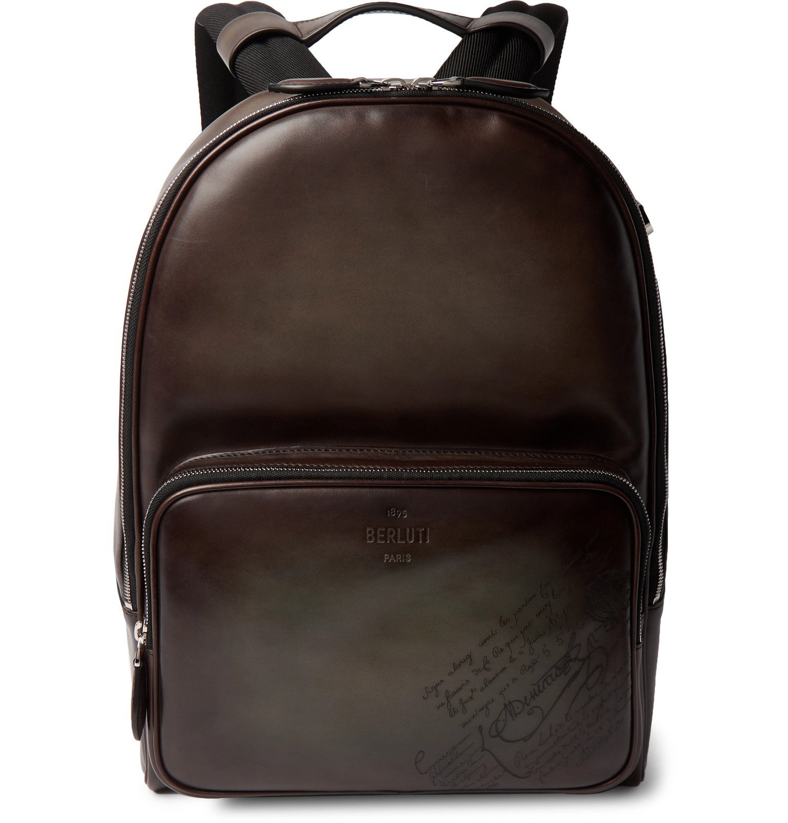 Photo: Berluti - Scritto Leather Backpack - Brown
