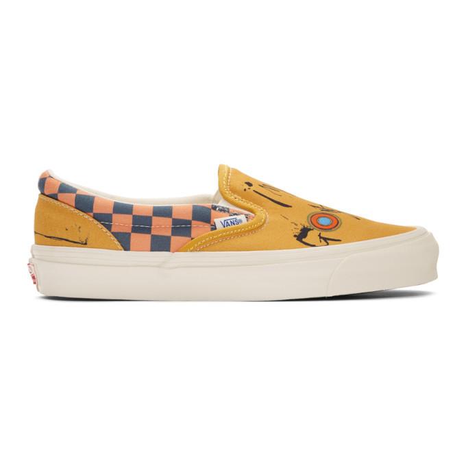 Photo: Vans Yellow Ralph Steadman Edition Gonzovation OG Classic Slip-On Sneakers