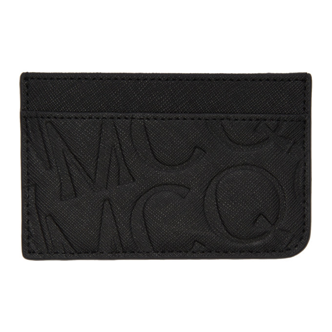 Photo: McQ Alexander McQueen Black Embossed Logo Card Holder