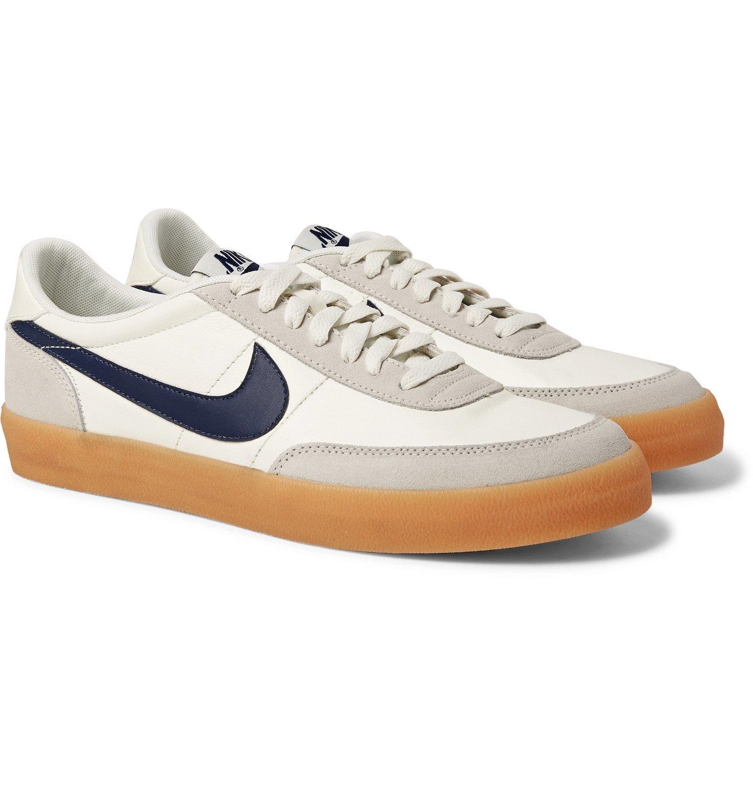 Photo: Nike - Killshot 2 Suede-Trimmed Leather Sneakers - Neutrals