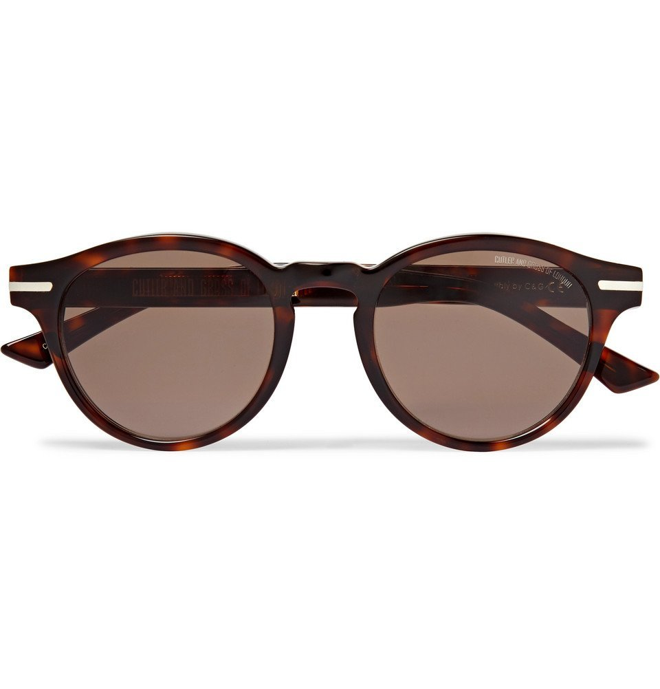 Photo: Cutler and Gross - Round-Frame Tortoiseshell Acetate Sunglasses - Tortoiseshell