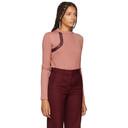 Nina Ricci Pink Leather Patch Sweater