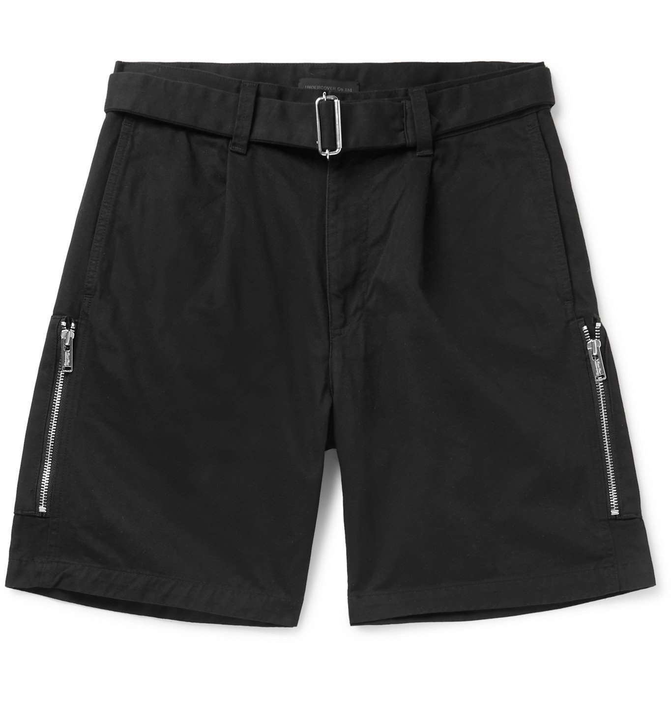 Photo: Undercover - Belted Cotton-Twill Shorts - Black
