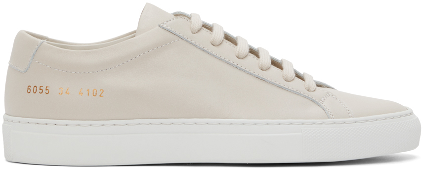Photo: Common Projects Off-White Achilles Low White Sole Sneakers
