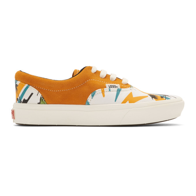 Photo: Vans Orange Suede Comfycush Era Sneakers