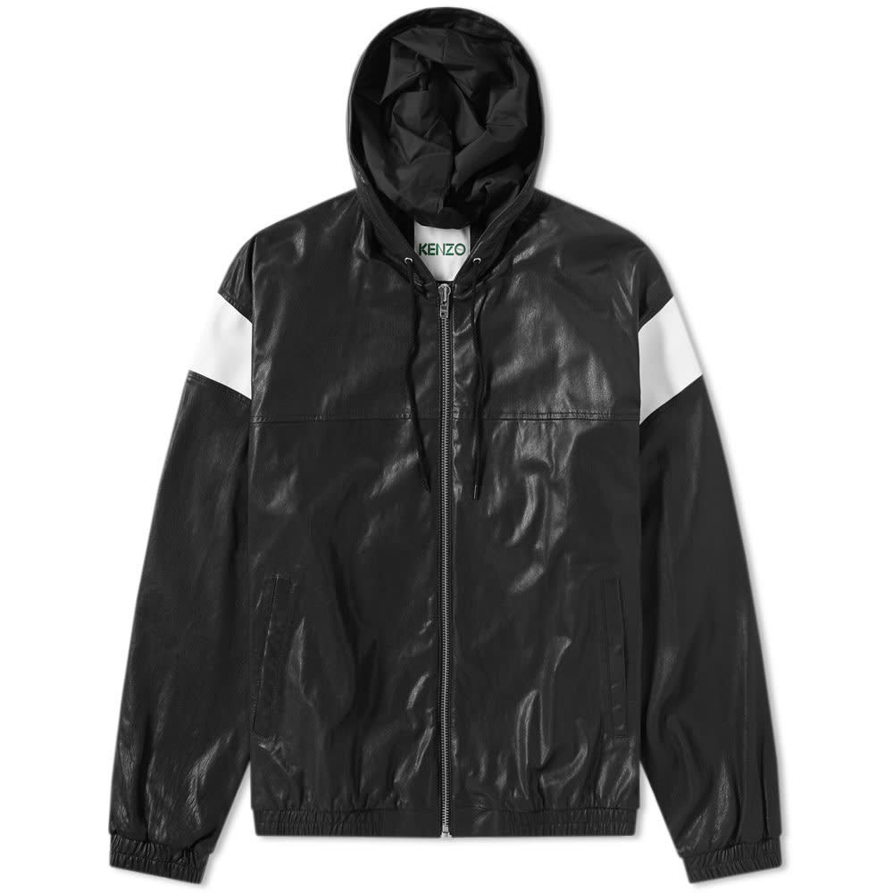 Photo: Kenzo Hooded Leather Jacket