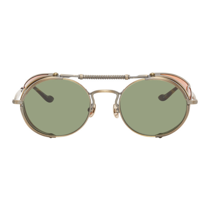 Photo: Matsuda Gold and Green 2809H Terminator Sunglasses
