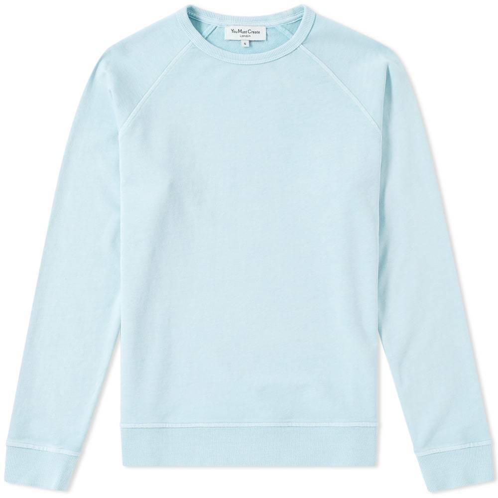 Photo: YMC Pigment Dye Schrank Raglan Sweat Blue