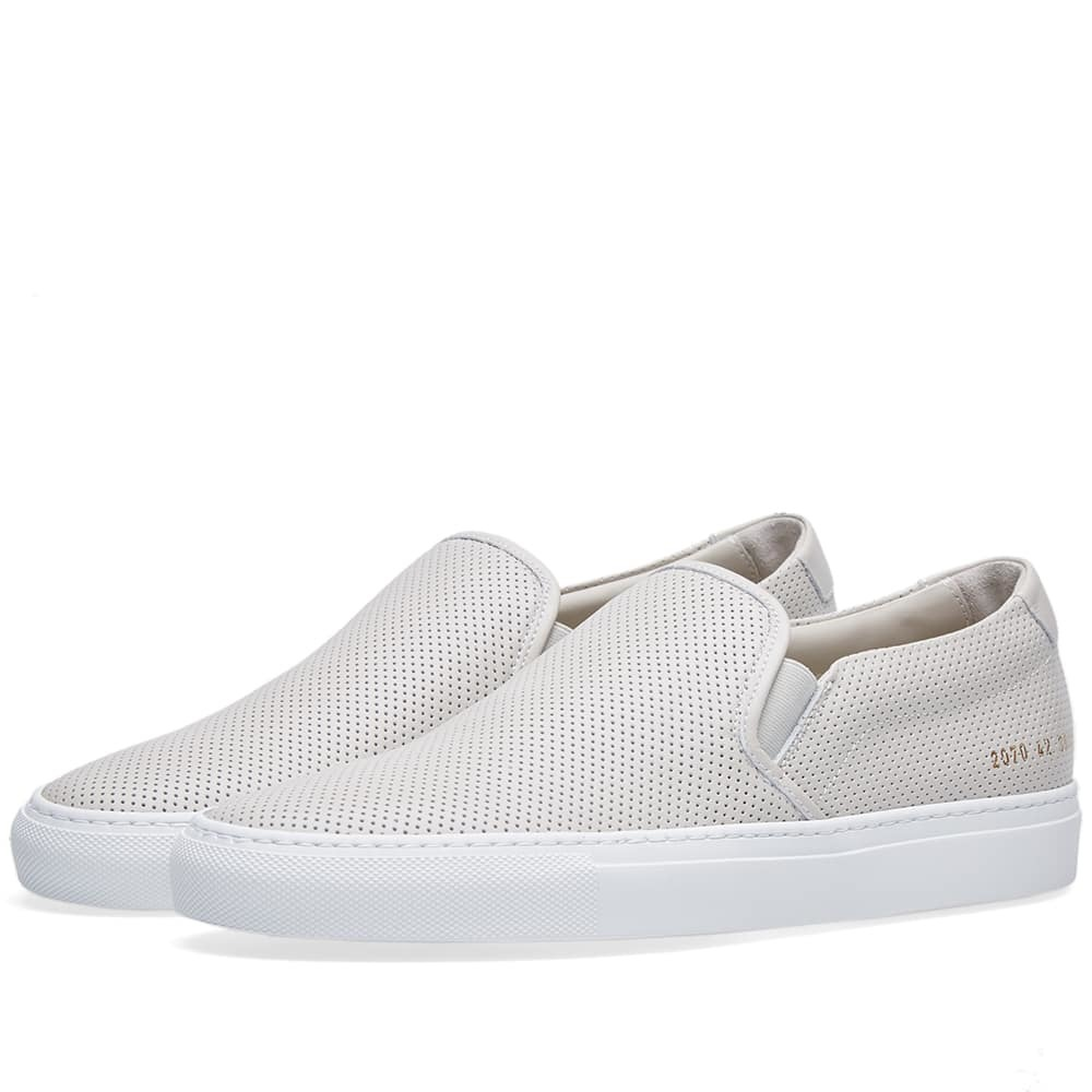 Photo: Common Projects Slip On Perforated