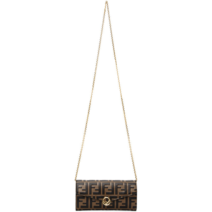 Photo: Fendi Brown Forever Fendi F is Fendi Chain Wallet Bag