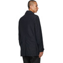 Stone Island Navy Naslan Light Watro Trench Coat